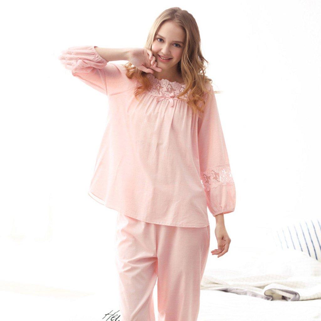 Pijamas finos de algodón color : rosa de primavera trajes y verano ...