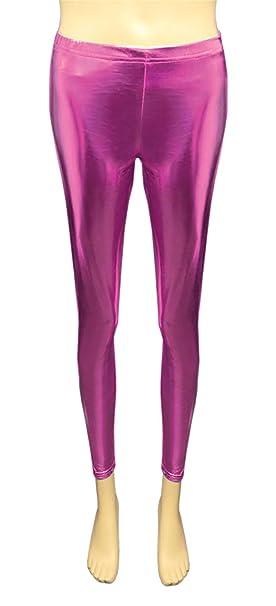Islander Fashions Girls Brillante Metallic Legging Nios Stretchy Wet Look Disco Party Fancy Pants 5/12 Years: Amazon.es: Ropa y accesorios