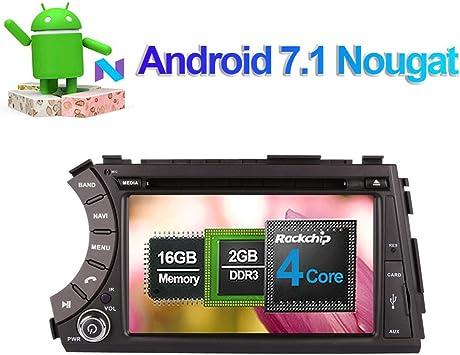 Reproductor de CD y DVD estéreo de 7 pulgadas Android 7.1 para ...