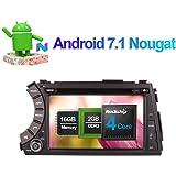 17,8cm Android 7.1Auto Stereo CD DVD Player in Dash Auto Radio Head Unit mit Bluetooth GPS Navigation für SsangYong Kyron Actyon Korando 05-Unterstützung FM AM RDS Spiegel Link WiFi/3G 1080P Video
