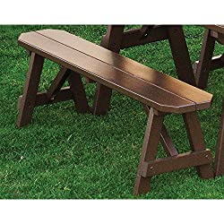 A & L Furniture Yellow Pine Traditional Bench, 8', Unfinished