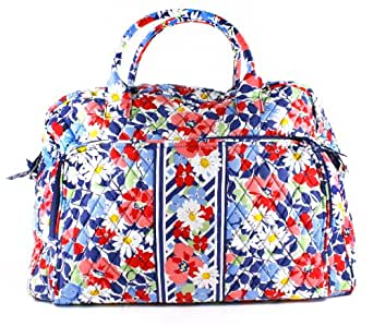 Vera Bradley Summer Cottage Weekender Zip Duffle Bag