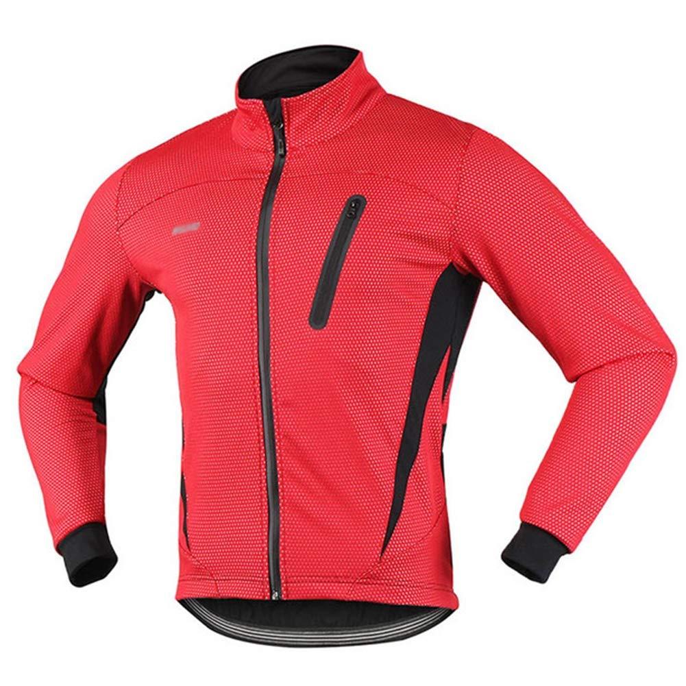 QWERT Thermal Cycling Jacke Winter Warm Up Fleece Fahrradkleidung Sport Mantel MTB Bike Jersey windundurchlässiger wasserdicht