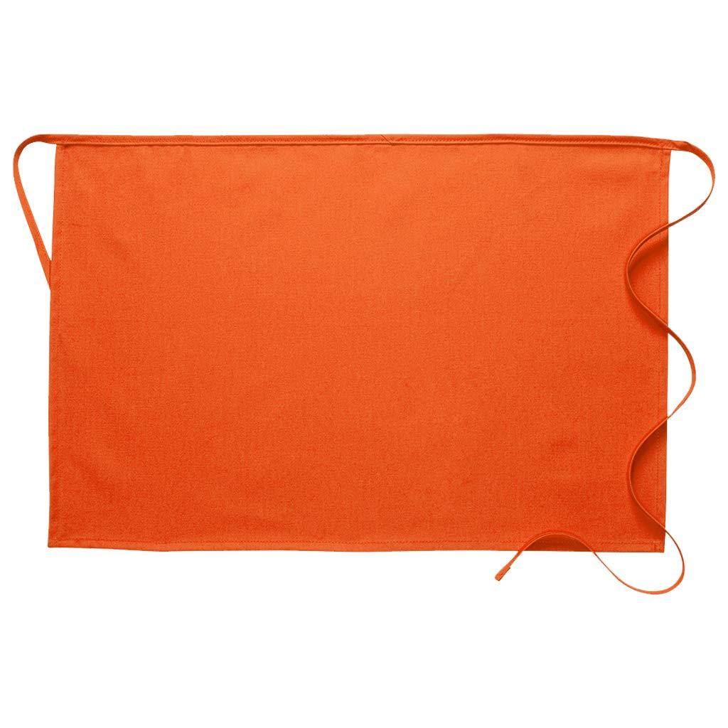 DayStar Apparel 110NP No Pocket Half Bistro Apron (12 Pack), Orange by DayStar Apparel