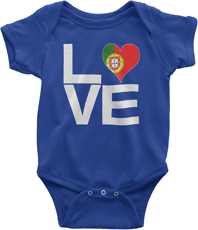 Tenacitee Babys Love Block Portugal Heart Bodysuit