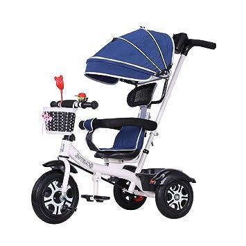 Bicicleta Infantil de 3 Ruedas para cochecitos de bebé de 1 a 3 años de Edad Plegable para niños 3 en 1 Triciclo para niños Cochecitos para niños: ...