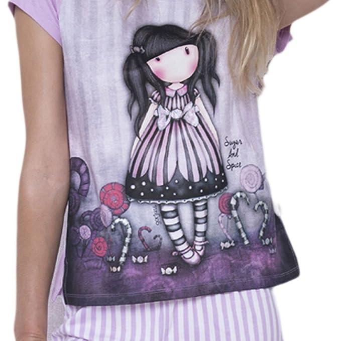 SANTORO LONDON Pijama GORJUSS Santoro Corto Chica Mujer Color Malva Talla: Medium: Amazon.es: Ropa y accesorios