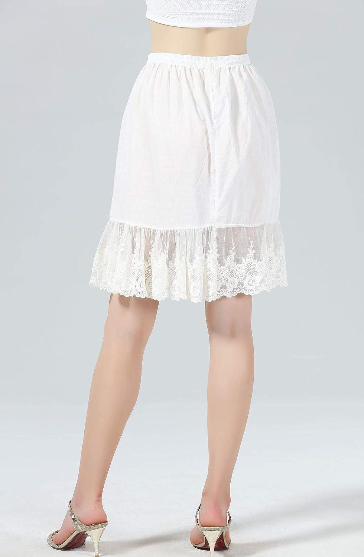 Femme Jupon Dentelle Lingerie sous-Jupe Robe Coton Blanc Noir Ivoire Court  Mi-Long pour Marige ... ecb7166c0cb1