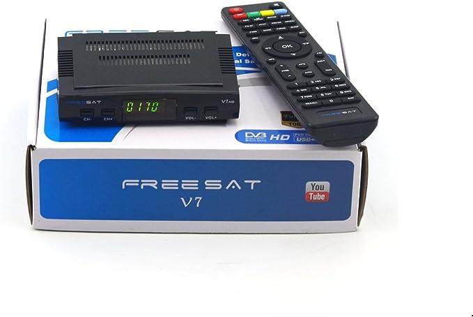 Freesat V7 - Receptor TV Box digital, HD 1080p, DVB-S2 ...