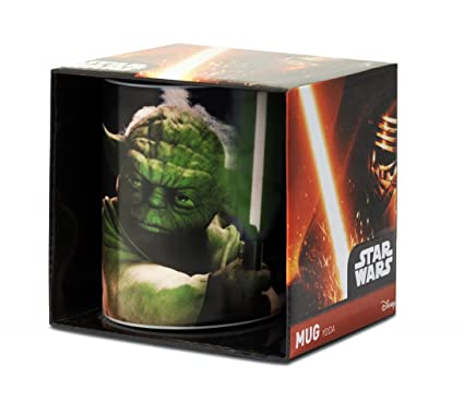 Logoshirt Yoda Taza de Cafe - La Guerra de Las Galaxias - Star Wars Taza -
