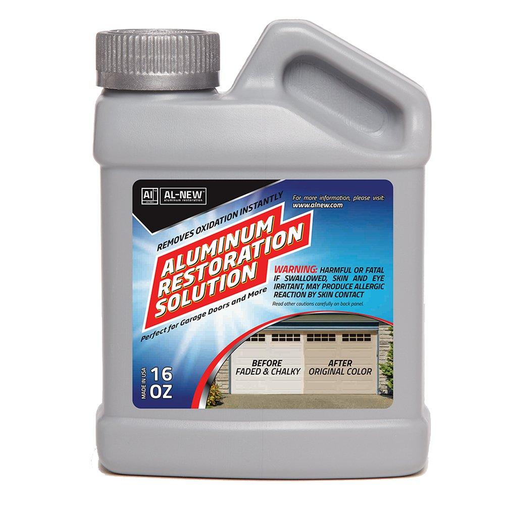 AL-NEW Aluminum Restoration Solution   Clean + Restore + Shine + Polish Garage Doors, Window Frames, Patio Furniture, and Stainless Steel (16 oz.)