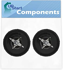 2 Pack UpStart Components Replacement Cross Blade for Magic Bullet MB1001 Original Blender