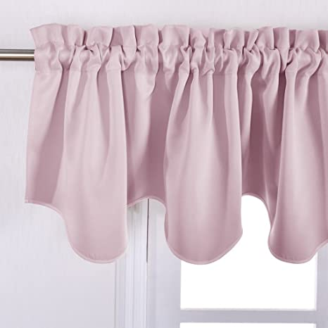 pink rose valances amazoncom nicetown bedroom blackout valance tier 52 inch by 18