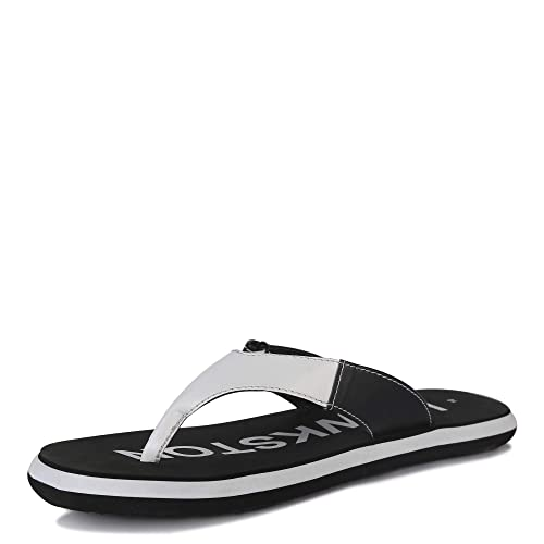 1c2897bf6038 Hawkston Men Tango 02 Black White Slip On Flip Flop House Slipper Hawai  Chappal UK 8  Buy Online at Low Prices in India - Amazon.in