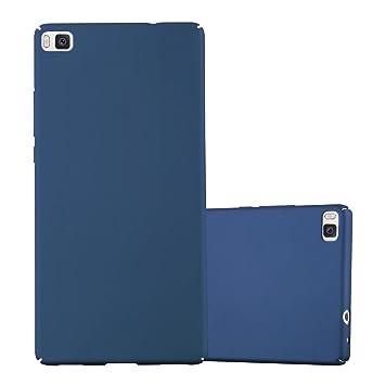 Cadorabo Funda para Huawei P8 en Metal Azul - Cubierta Protección de Plástico Duro Super Delgada e Inflexible con Antichoque - Case Cover Carcasa ...