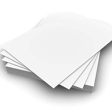 Hojas de Papel Cartoncillo para Impresora Blanco Nieve ...