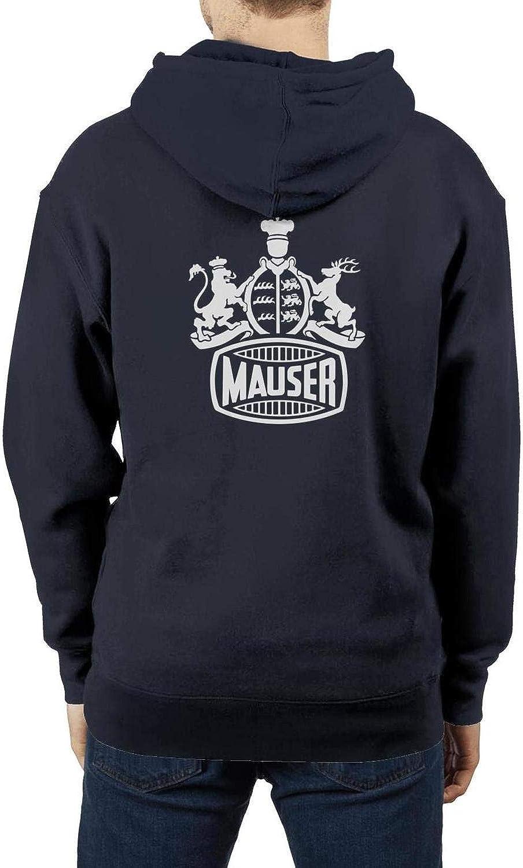Hoodie for Men,Navy-Blue Heavy Blend Pullover Sweatshirt Hoodie Sweater Sportwear Mauser-Logo