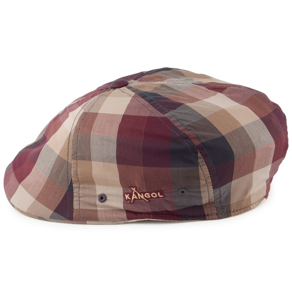 bbf20015c74 Kangol Hats Plaid Flexfit 504 Flat Cap - Burgundy-Tan Large X-Large   Amazon.co.uk  Clothing