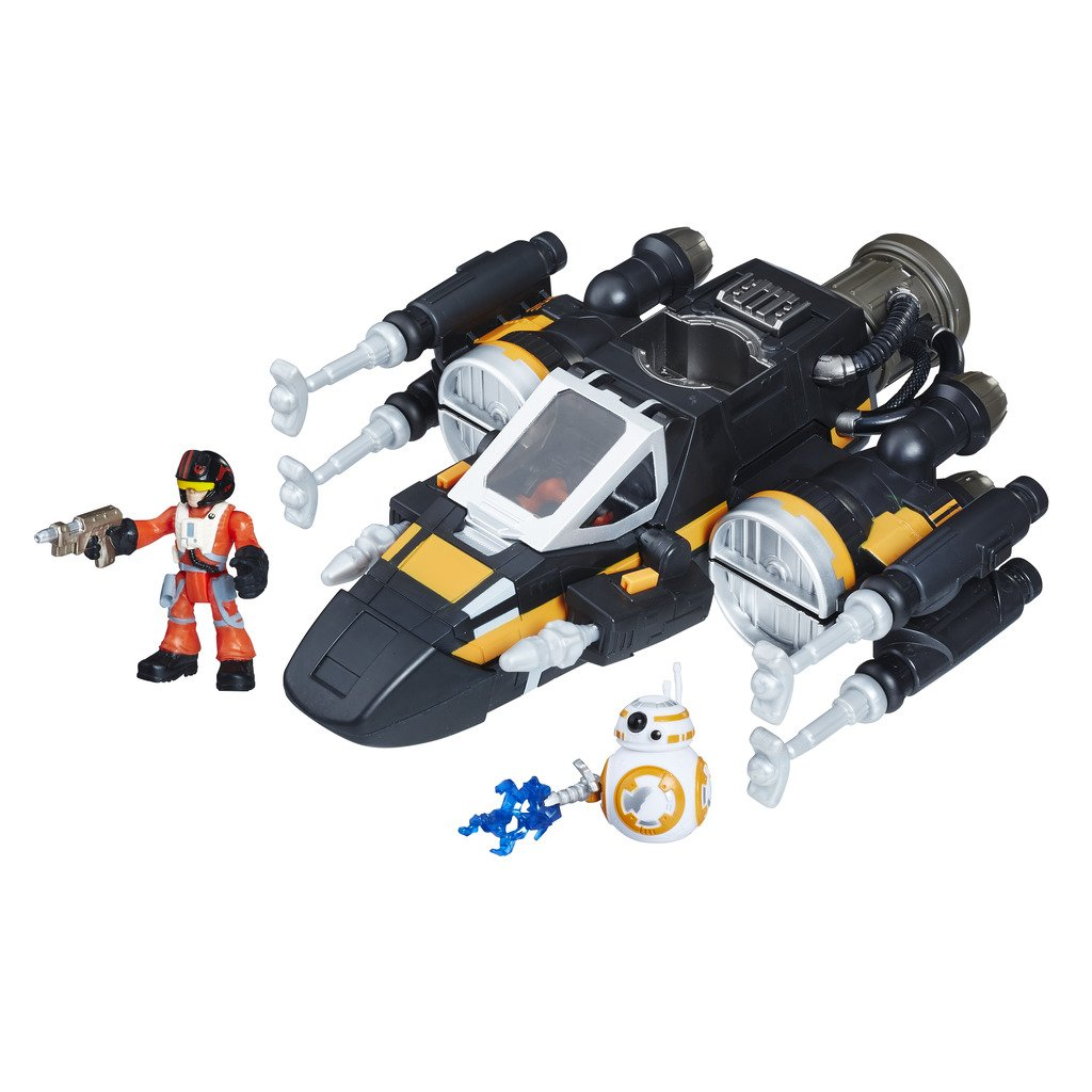 Star Wars Galactic Heroes Poe's Boosted X-Wing Fighter by PLAYSKOOL HEROES