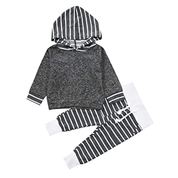 32df56171 Amazon.com   Toddler Infant Clothes Set Baby Boys Girls Striped ...
