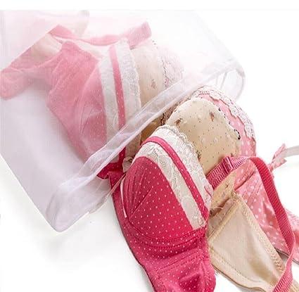 lishy caliente Creative cordón ropa interior bolsas para ropa sucia para limpieza, Blanco, Medium