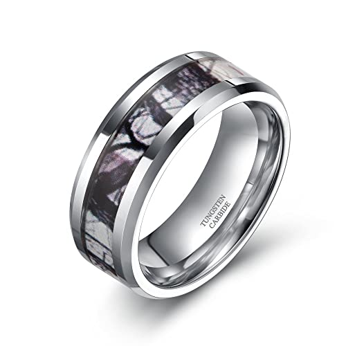 silver band rings products koa wedding free stripe wood center with tungsten carbide mens ring