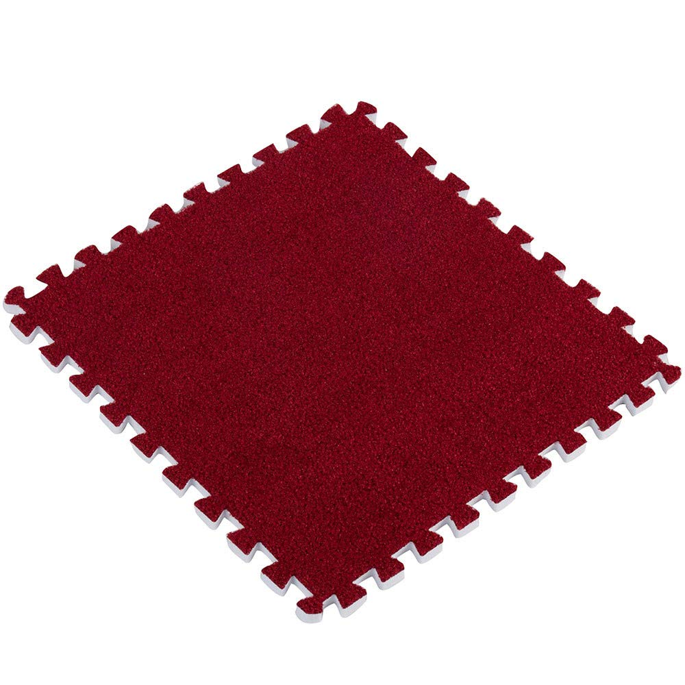 Digood Foam Play Mats, Non-Toxic EVA Soft Area Carpet Baby Kids Puzzle Mat for Nursery Home Décor (Red)