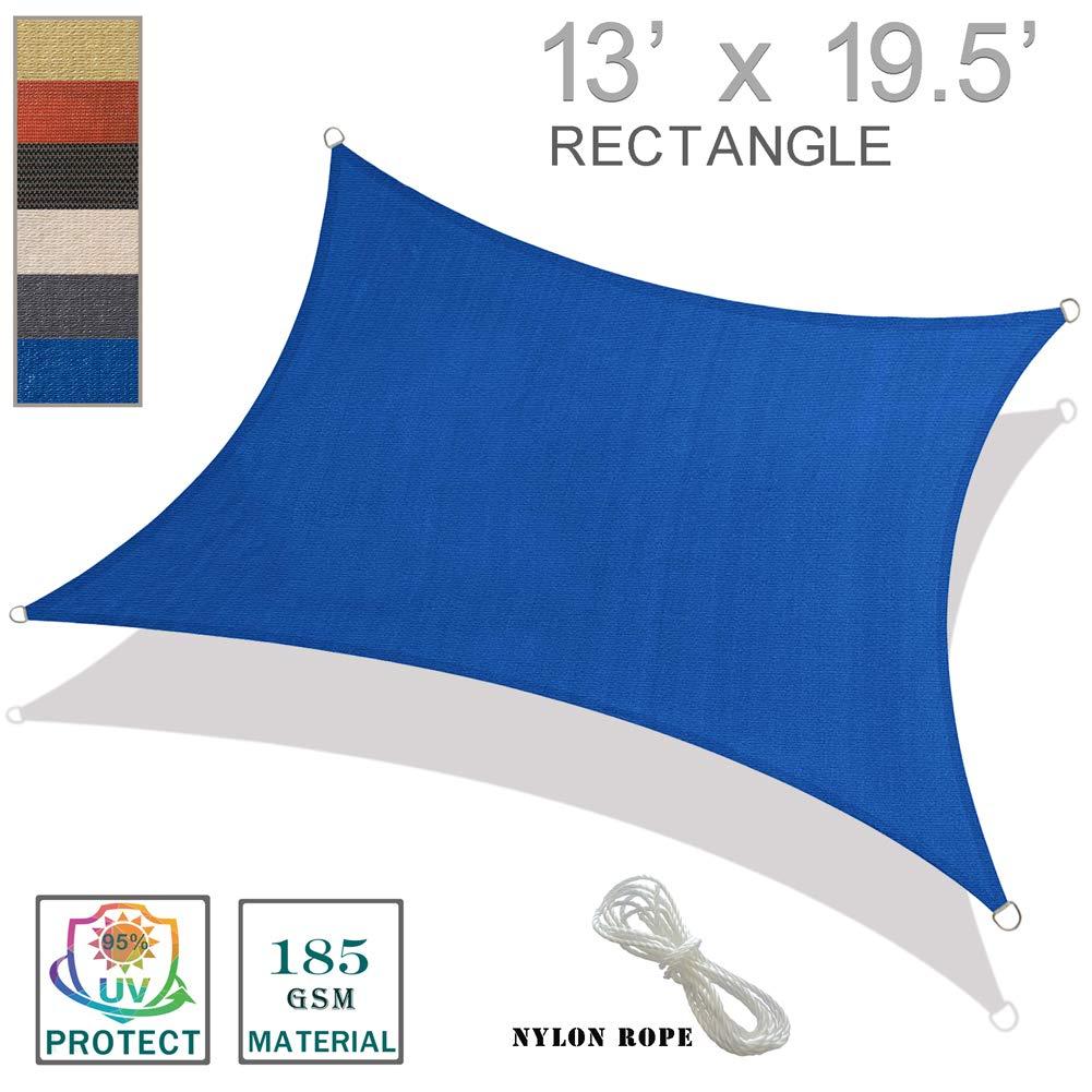 SUNNY GUARD 13' x 19.5' Blue Rectangle Sun Shade