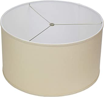 Fenchelshades Com 20 Top Diameter X 20 Bottom Diameter 11 Height Fabric Drum Lampshade Spider Attachment Designer Natural