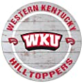 "KH Sports Fan 20""x 20"" Western Kentucky Hilltoppers Helmet Weathered Circle Sign"