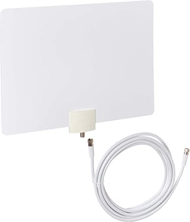 Mohu Leaf Metro Indoor HDTV Antenna with 25 Mile Range /& 10 Ft Cable in White