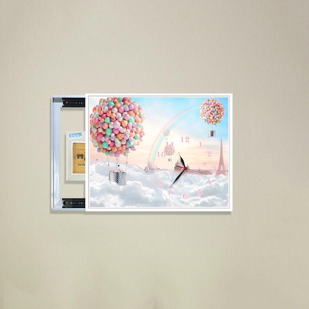 3Dアートサイレント防水絵画壁時計装飾的な背景クリエイティブアートマイクロフレームクリスタルクロックトリプルハンギング絵画の水平バージョン居間 (サイズ さいず : 40*50cm) B07DDCW9BC40*50cm