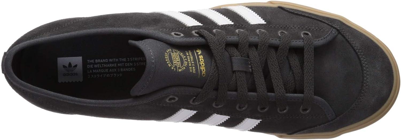 adidas Men's Matchcourt Fashion Sneaker Dark Grey Heather/White/Gum