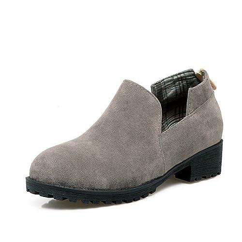 Talon Tête Ronde Femmes Large Root Basse Suede Chaussures Pour wNnOX80ZPk