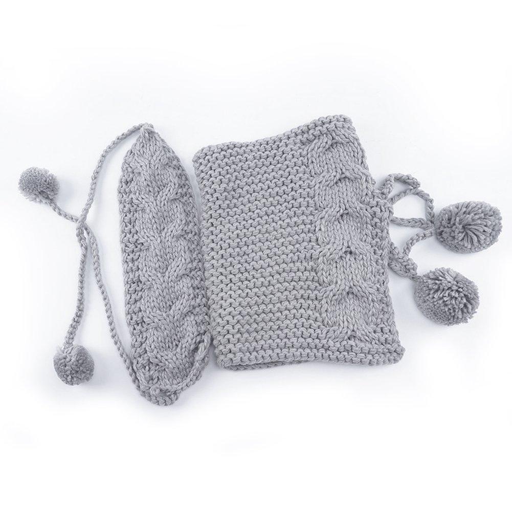 Gorro-bufanda de invierno bebé, Vandot Punto de Lana Diadema ...