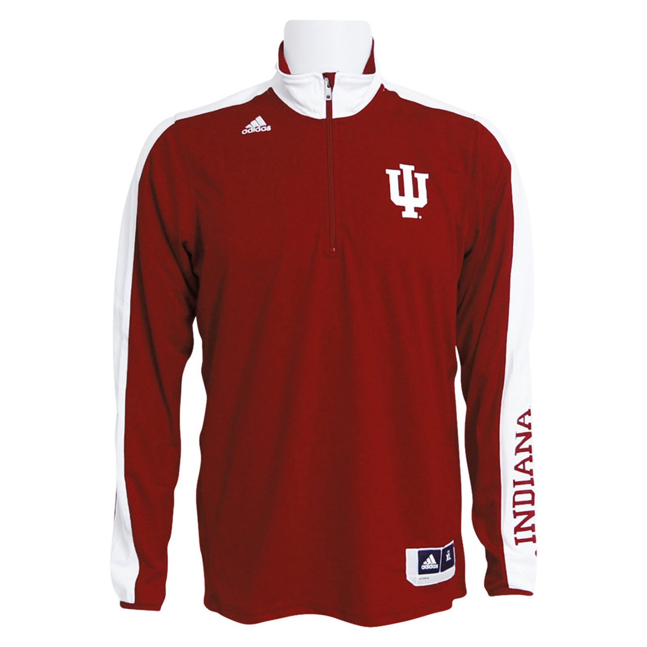 adidas Indiana Hoosiers Youth On-Court Long Sleeve Shooter T-Shirt