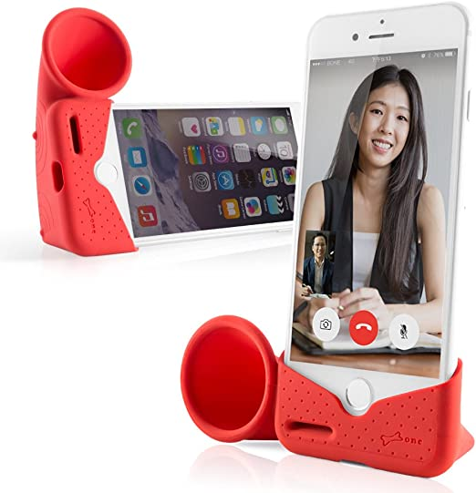 Amazon Com Bone Iphone Horn Stand Iphone Sound Amplifier Stand Speaker Dock Holder For Selfie Live Stream Broadcast Webcam Video Conference For Iphone 12 12 Pro 11 11 Pro Max Xr Xs Max