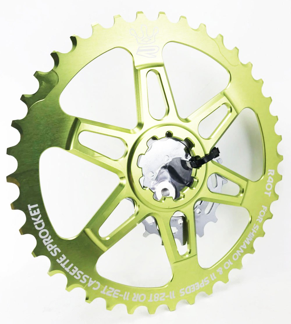 RELIC レリク R40Tロードバイク用カセットスプロケットコグキット/ 40T / 16T アップグレードShimano 28/32T 黒.緑 B07BQXPGP4黑