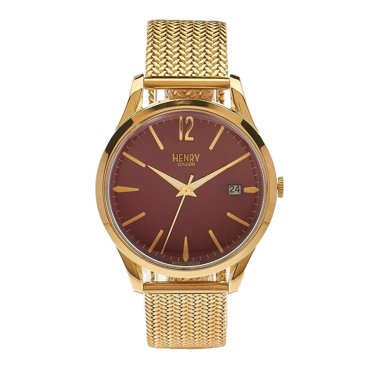 Henry London Unisex-Armbanduhr Holborn Analog Quarz Edelstahl HL39-M-0062