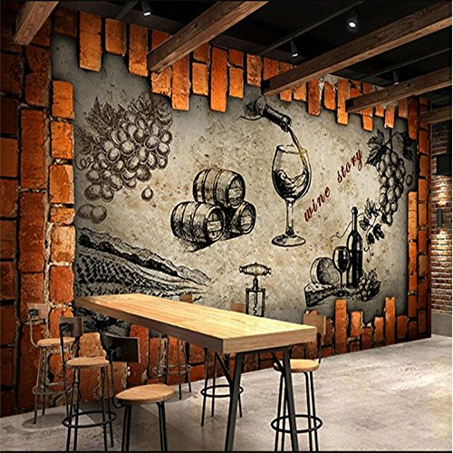 250cmX175cm Retro Wine Storehouse Cellar Manor Wine House Mural Custom Made Large and Medium Mural Silk Wallpaper papel de parede,250cmX175cm