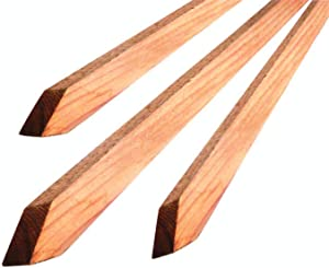 Bond Manufacturing Co 94006 4ft x 3/4in Packaged Hardwood Stakes, 0.75