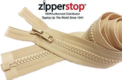 30 Ski /& Sport Vislon Zipper ~ YKK #5 Molded Plastic ~ Separating 1 Zipper//Pack Made in USA Black