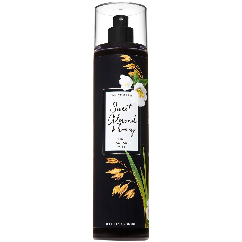 Bath and Body Works White Barn Sweet Almond and Honey Fine Fragrance Mist Spray 8 Fluid Ounce Black Label