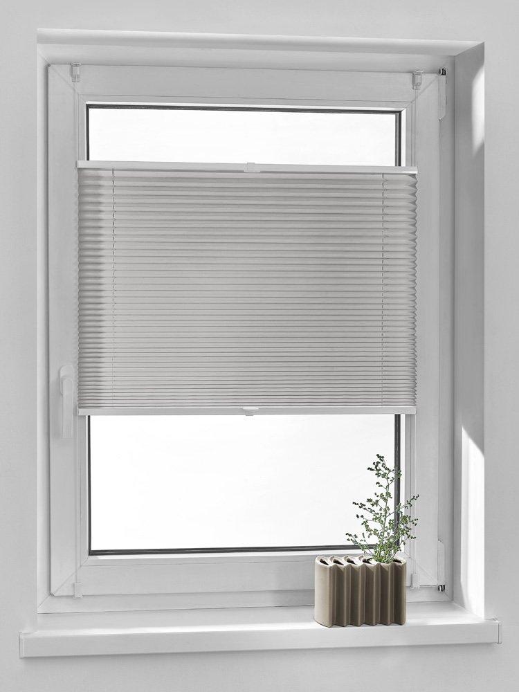 Vidella Tenda oscurante a pieghe comfortino montaggio a finestra, grigio per PC, 6, Grigio, W: 45cm/L: 160cm PC-6 64