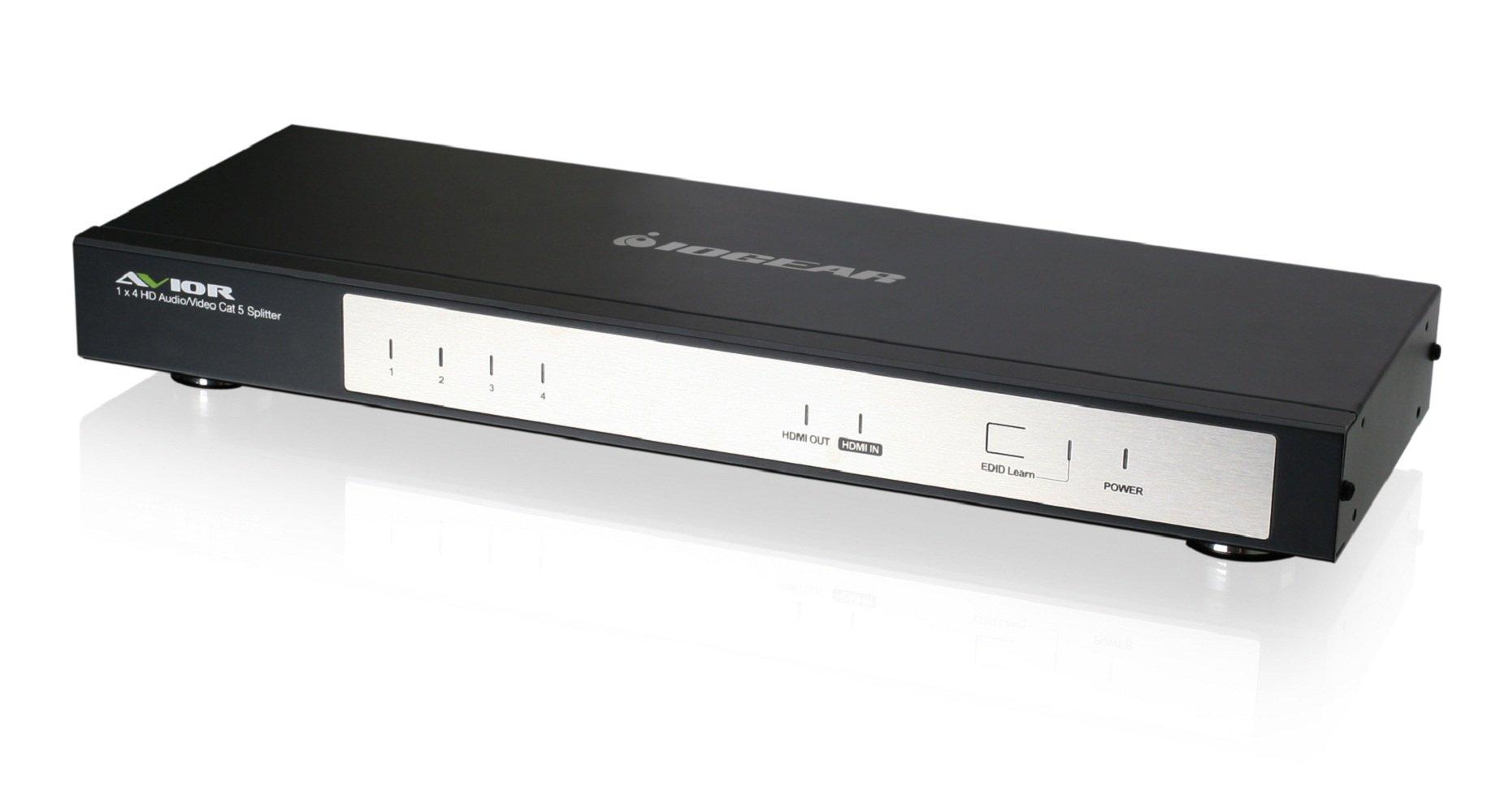 IOGEAR 4-Port HDMI Audio/Video Cat 5e/6 Splitter (GHSP8214E)