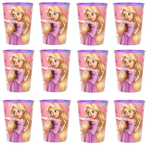 Disney Tangled Princess Rapunzel Reusable Cups (12x) ~ Birthday Party Supplies Plastic Favors