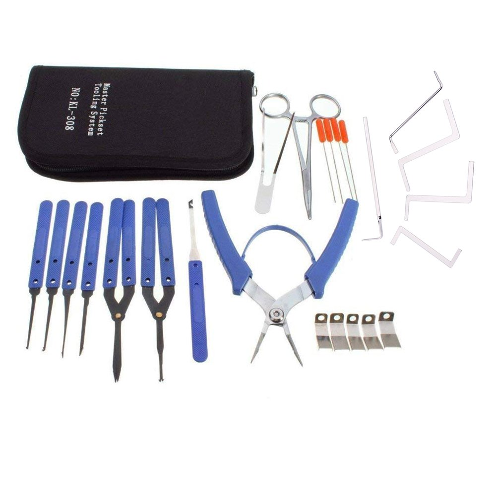 lockmall nuevo Master Juego completo de herramientas de bloqueo Extractor de llaves rotas Locksmith Tool