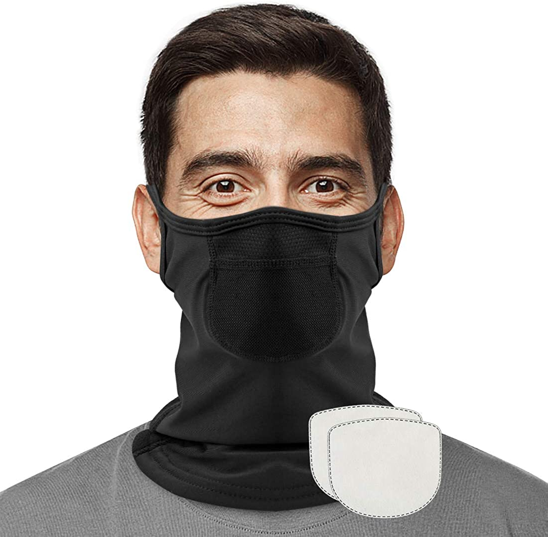 Evershop face couvrant avec filtre réutilisable Balaclava contour pour hommes//femmes,