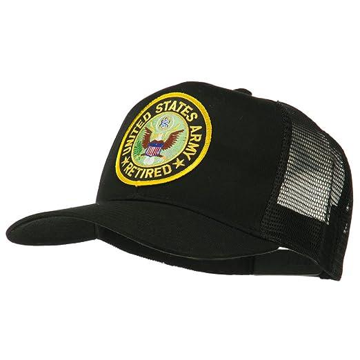 c1ebdf12977 US Army Retired Circle Patched Mesh Cap - Black OSFM at Amazon Men s ...