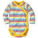 Hanna Andersson Baby Baby Crossover One Piece In Organic Cotton, Size 50 (0-6 Months), Rainbow Multi
